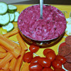 Roasted Garlic Beet Hazelnut Dip