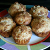 Easy Greek Yogurt Rhubarb Muffins